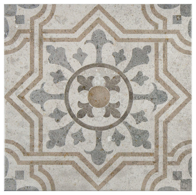 Asturias Jet Ceramic Floor And Wall Tiles Set Of 9 13 X13