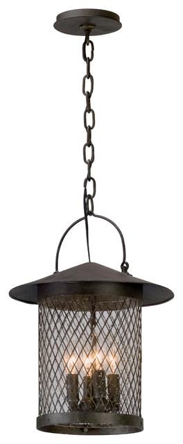 Troy Altamont 4-Light Hanger Lantern, French Iron, Large.