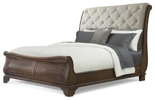 Klaussner Trisha Yearwood Home Dottie Queen Upholstered Sleigh Bed