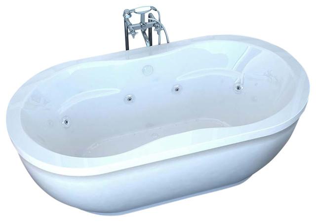 atlantis venzi velia freestanding soaker bathtub 34 x 71 x 21 oval contemporary bathtubs. Black Bedroom Furniture Sets. Home Design Ideas
