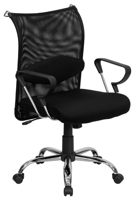 MFO Mid-Back Manager's Chair with Mesh Back and Padded Mesh Seat
