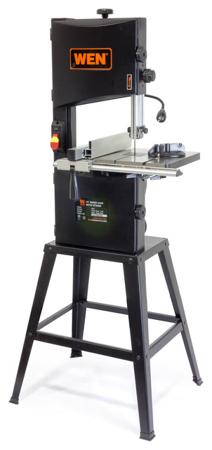 "10"" Two-Speed Band Saw With Stand And Worklight."