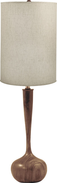 Wooden Tulip Table Lamp   Woodtone, E26