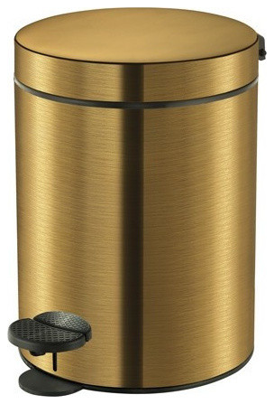 SCBA Retro Bronze Round Step Wastebasket Trash Can For Bathroom, Kitchen,  Office