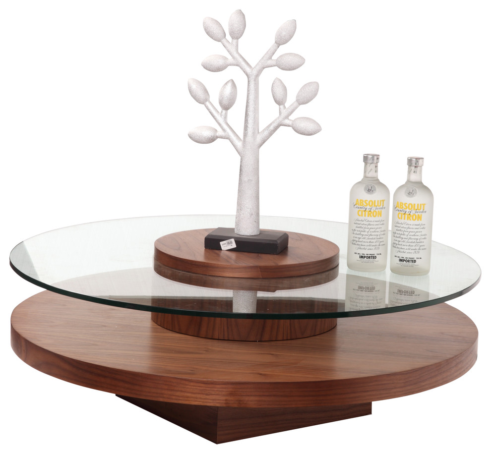 Walnut And Glass Coffee Table Contemporary Coffee Tables By Bh Design Houzz [ 916 x 990 Pixel ]