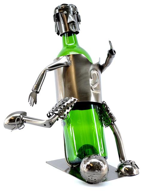 BRUBAKER Beer Bottle Holder Soccer Player 6040  Soccer Wine Holder