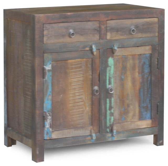 Reclaimed Wood 2 Door Sideboard Rustic Buffets And