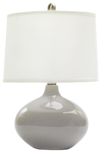 "Fangio Lighting 20"" Ceramic Table Lamp, Swanky Gray."