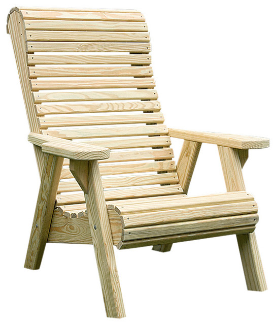 Shop Houzz : Furniture Barn USA Pressure Treated Pine Rollback Chair - Patio Furniture And ...
