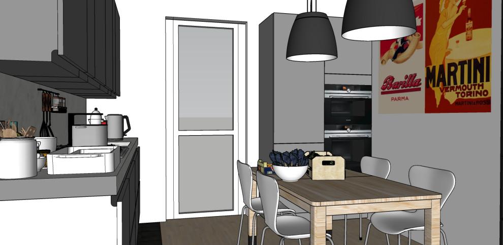 Render_Vista della cucina.