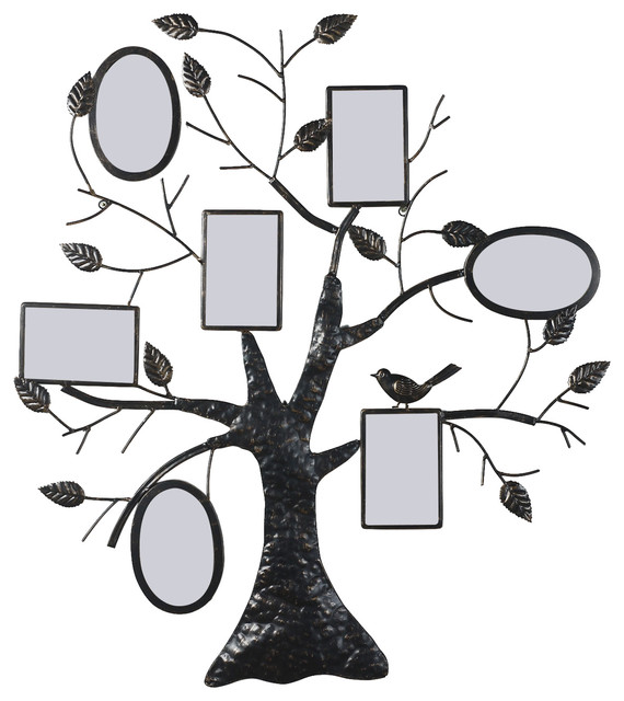 Collage Bronze Iron Metal Wall Hanging Family Tree Photo