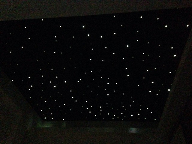 Fibre optic starlight ceiling in small movie room fibre optic starlight ceiling in small movie room moderno aloadofball Image collections