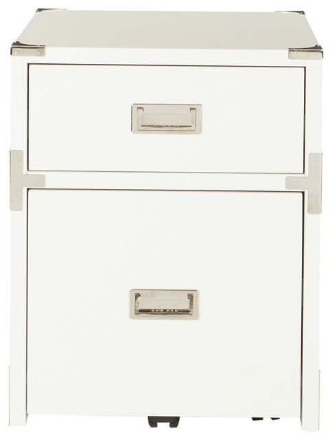 Wellington 2-Drawer File Cabinet, White.