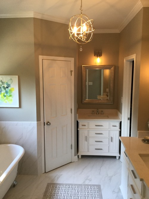 Our new updated master bathroom for Updated master bathrooms