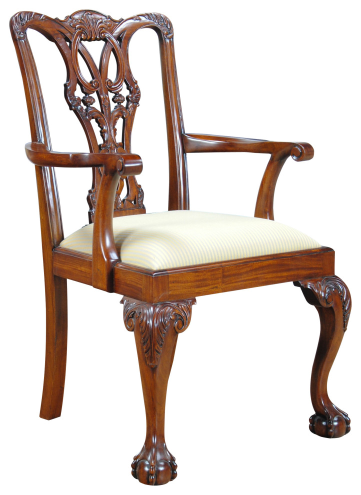 Ball And Claw Arm Chair Victorian Dining Chairs By Niagara Furniture
