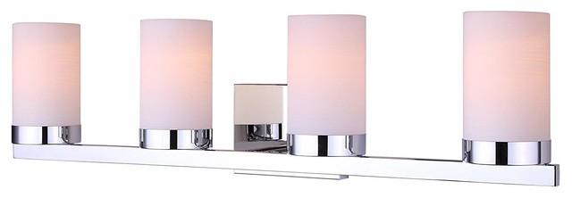 Polished Chrome Finish PLC Lighting 72196 PC 4 Light Vanity Rigga Collection
