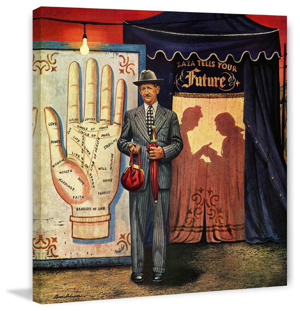 Palmist Painting Print On Canvas By Stevan Dohanos Eclectic Prints And Posters By Marmont Hill