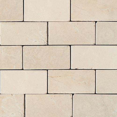 "3""x6"" Cream Marfil Honed Subway Tile, Set Of 50."