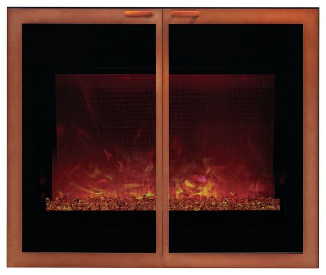 Arbor style door with screen for zecl 39 4134 copper for Indoor screen door