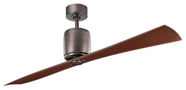 Oil Brushed Bronze Ceiling Fan Transitional Ceiling