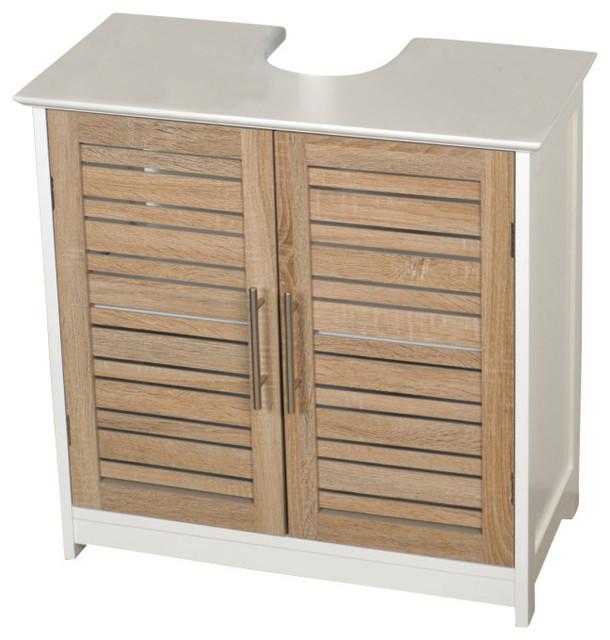 Freestanding Non Pedestal Under Sink Vanity Cabinet Bath Storage Wood,  Stockholm beach-style-