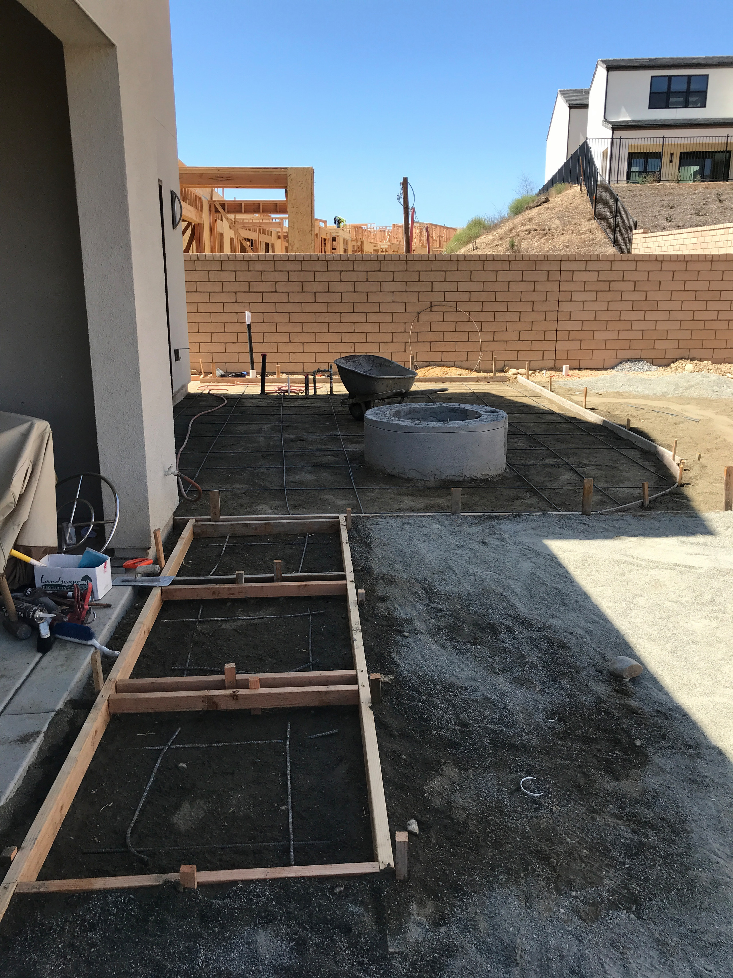 Setting Up Concrete Form Boards