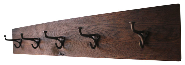 Reclaimed Barn Wood Coat Rack With Hooks.