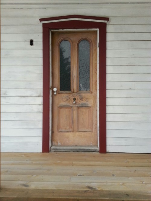 & Help with refinishing old antique farmhouse doors and replacement glas