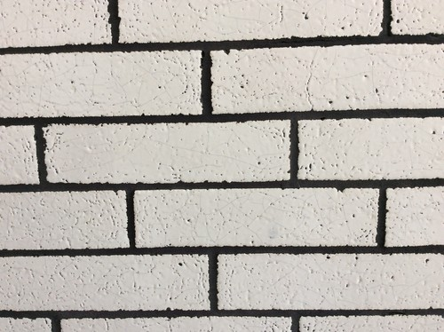What 39 s wrong with the crackled brick subway tile in kitchen - White brick tiles black grout ...