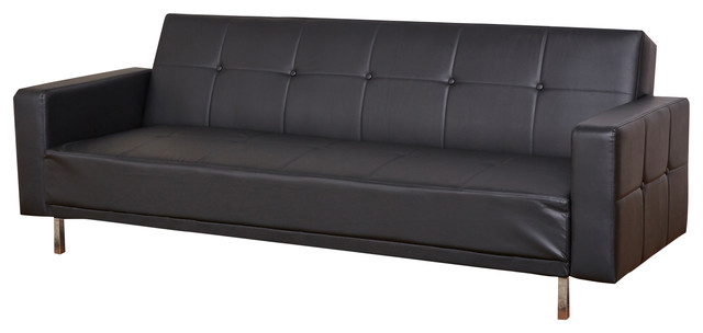 cleveland convertible sofa bed black