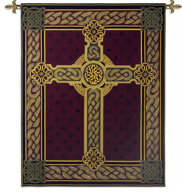 "Celtic Cross Wall Tapestry, 53""x40"". -1"