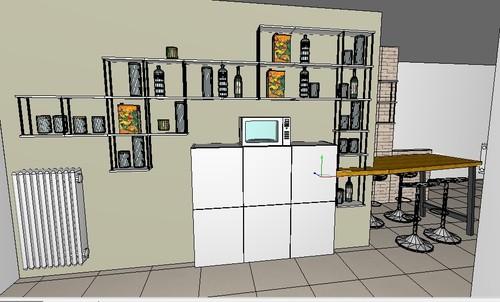 Consiglio su come colorare soggiorno e cucina - Colorare pareti cucina ...