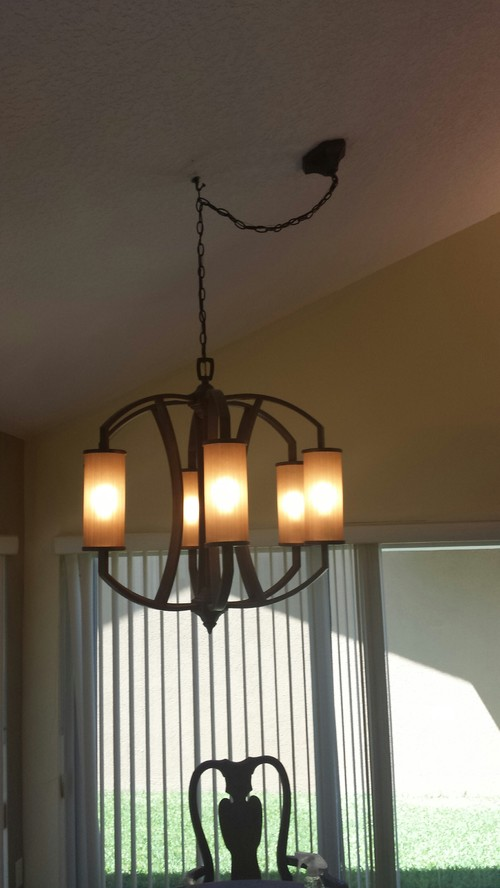 Do not like swag and hook on new chandelier need ideas aloadofball Image collections