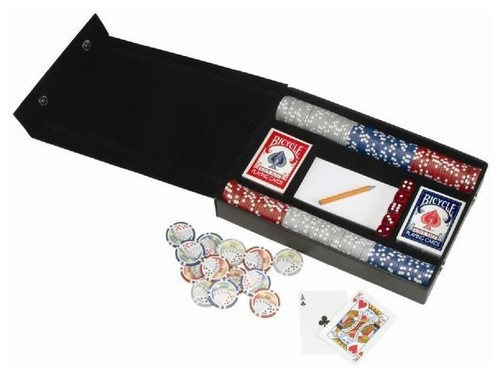 Leather Professional Poker Sets modern accessories and decor