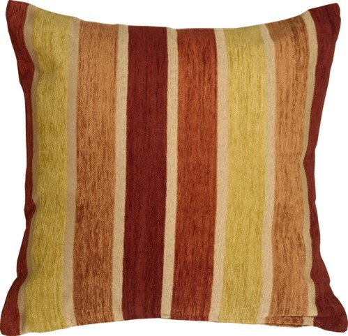 Pillow Decor Savannah Stripes Chenille Throw Pillow