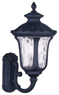 Oxford 3-Light Outdoor Wall Lights, Black