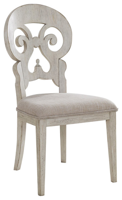 Liberty Farmhouse Reimagined Splat Back Side Chair Antique White Set Of 2 Dining Chairs By Quality Furniture S