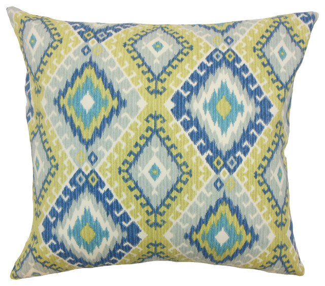 Jinja Ikat Bedding Sham Aegean, Euro - Southwestern - Pillowcases And Shams - by The Pillow ...