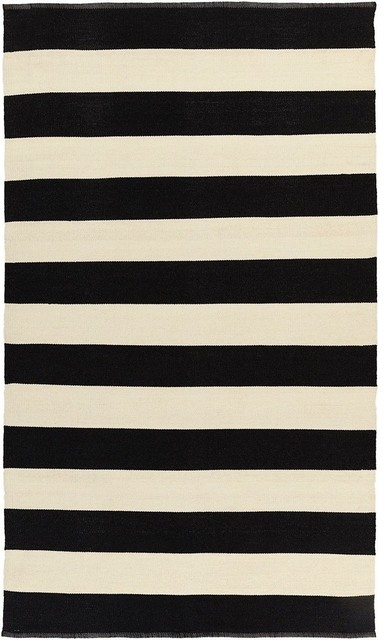 Indoor/Outdoor Area Rug, Breeze Collection, Onyx, 5'x8'
