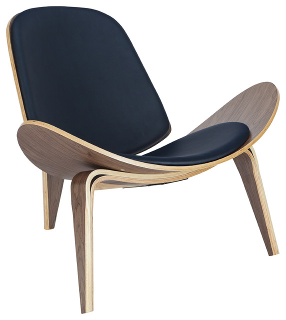 Poly And Bark Curved Plywood Lounge Chair.