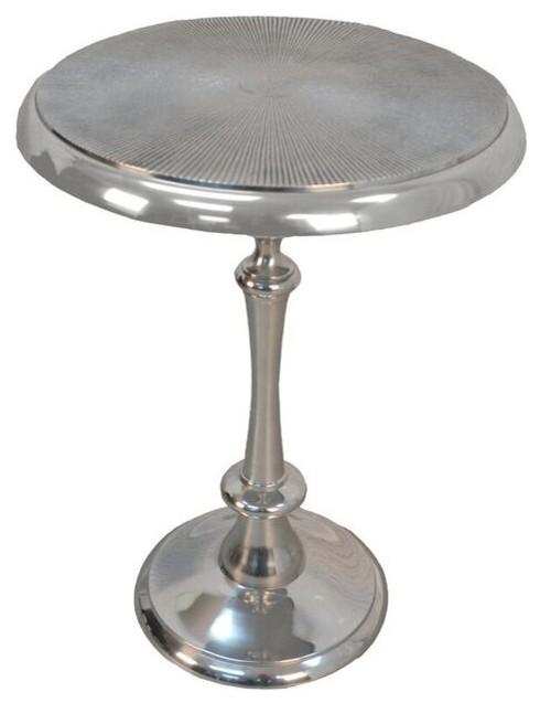 Ashton Metal Accent Table Aluminum Contemporary Side