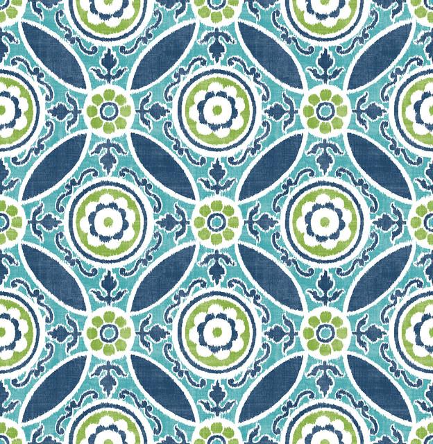 fine decor maya teal medallion wallpaper wallpaper houzz