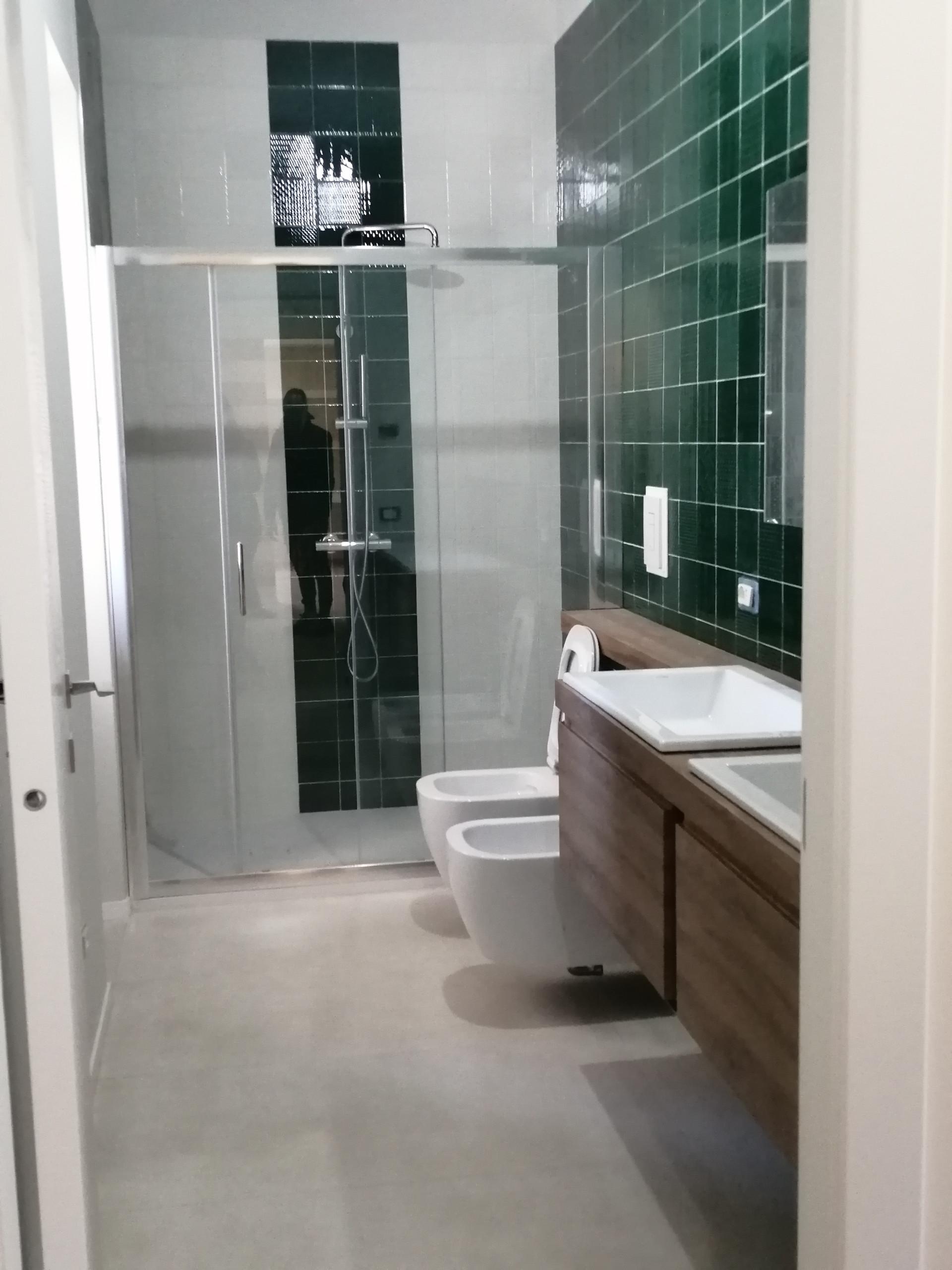 bagno verde smeraldo