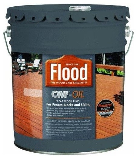 Flood Ppg Fld442 Cwf Clear Natural Exterior Wood Stain Voc: Flood Exterior Cwf Oil Clear Wood Finish, 5 Gallon