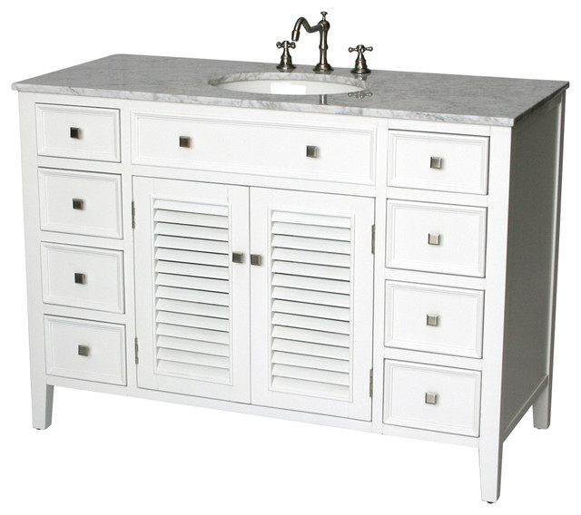 Ordinaire 48 Inch Cottage Style Single Sink Bathroom Vanity Model 1128 48 WK