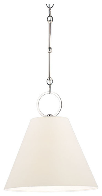 Hudson Valley, Altamont C1 Pendant, 1-Light, Nickel.