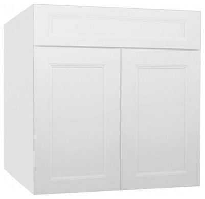 Uptown White Kitchen Base Cabinet SB27B Contemporary Kitchen Cabinetry