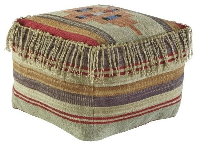 Ashley Bentlee Pouf - Southwestern - Floor Pillows And Poufs - by Homesquare