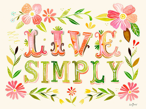 Poster Decal Live Simply By Katie Daisy Contemporary Wall Decals By Oopsy Daisy Fine Art For Kids Houzz