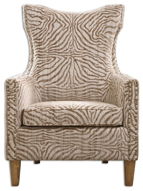 Kiango Animal Pattern Armchair By Designer Matthew Williams
